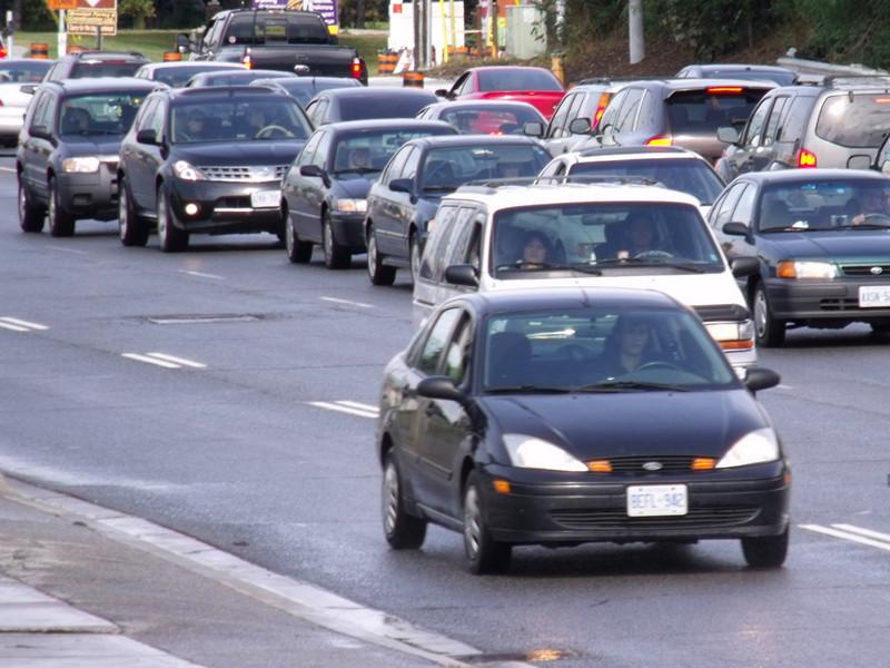 Cars on Toronto street