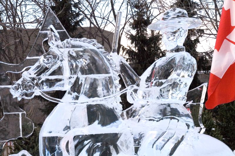 RCMP ice sculpture