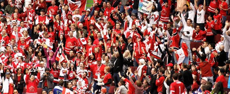 Olympic fans Canada