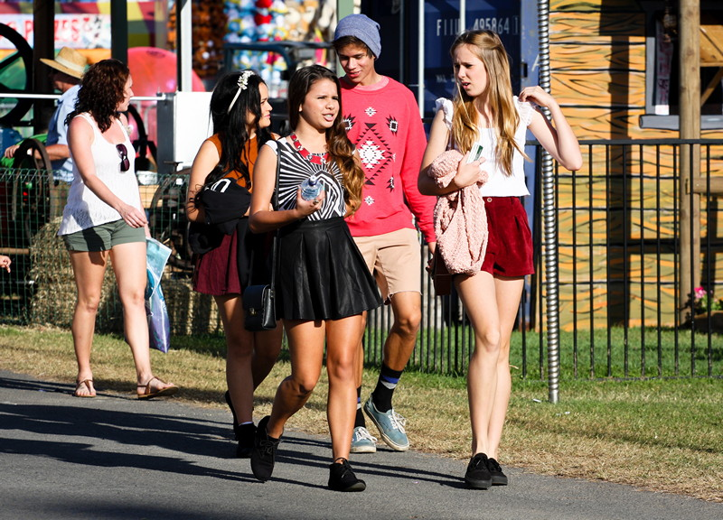 Teens on a street