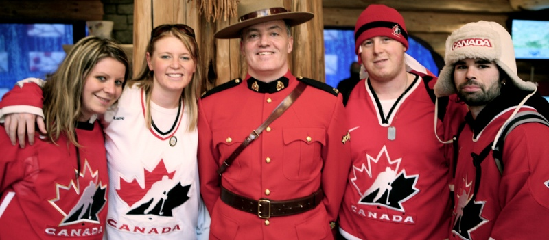 Canadians and RCMP officer