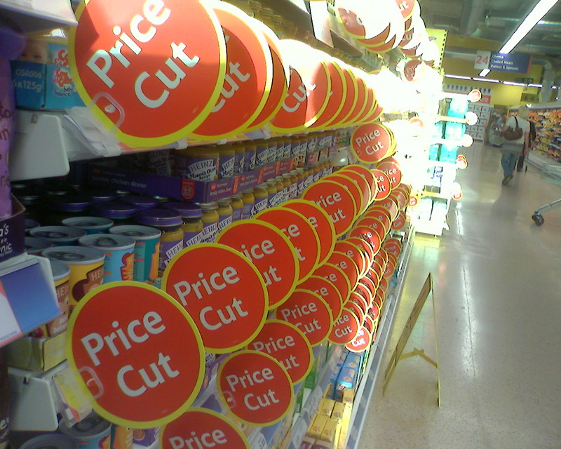 Price cut tags