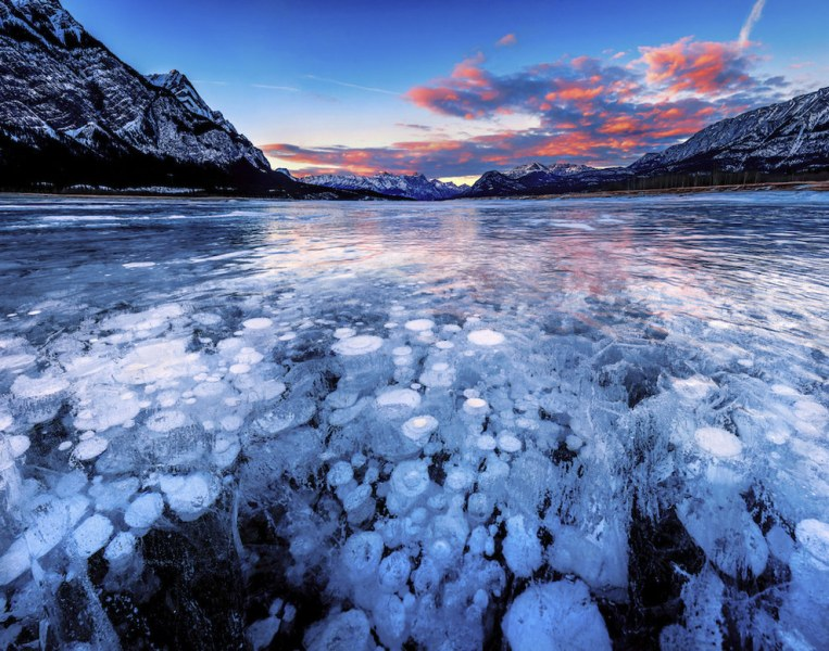 Озеро Авраам, Альберта, Канада
